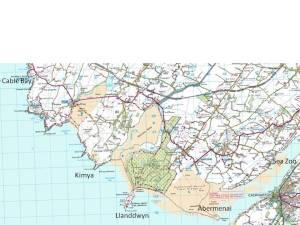 Llanddwyn map